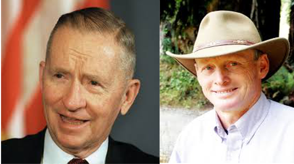 See? You'd never know which is which if we didn't tell you that is Driscoll on the left and Perot on the right